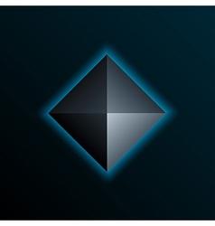 Blue pyramid vector