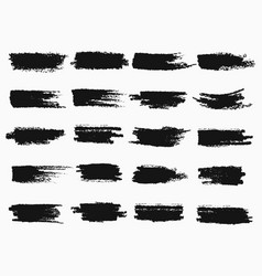 brush strokes or pen scratches of ink vector image vector image