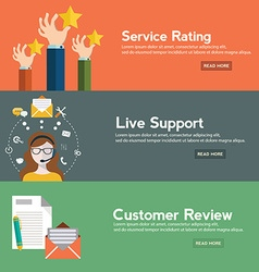 Business customer care service concept rating on vector