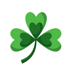 clover with three leafs natural emblem vector image