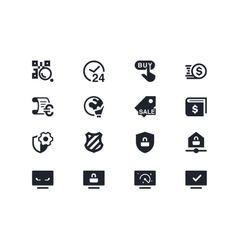 Commerce and security icons lyra series vector