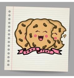 Doodle cookies vector