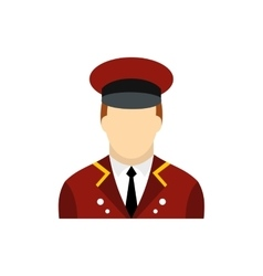 Doorman flat icon vector image