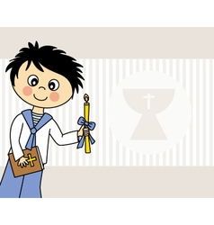 First Communion boy vector image vector image