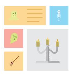 Flat icon celebrate set of spirit candlestick vector