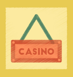 Flat shading style icon casino sign vector