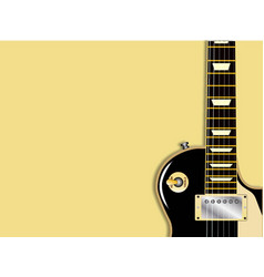 Guitar copy space vector