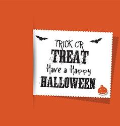 Halloween label background vector
