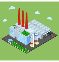 Isometric Warehouse with Industrial Shipping Area vector image