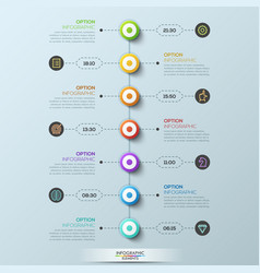 modern infographic design template 7 circular vector image vector image