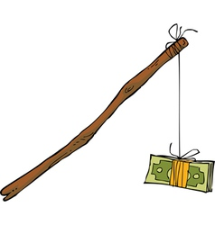 Money on a rope vector