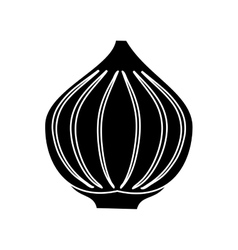 Pictogram onion vegetable spicy natural icon vector
