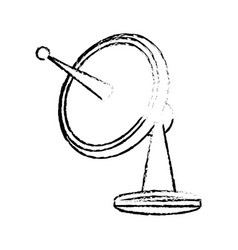 radar dish antenna for broadcast electronic vector image