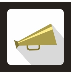 Retro metallic megaphone icon vector image