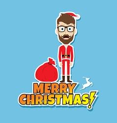 Santa claus christmas skinny dad vector