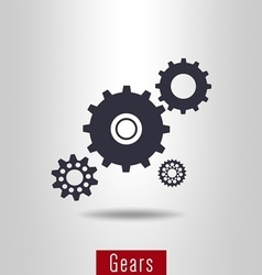 Set of gear icon vector image vector image
