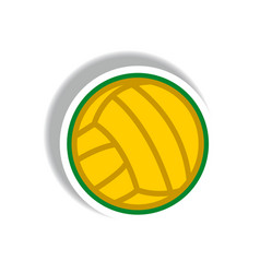 Stylish icon in paper sticker style volleyball vector
