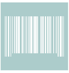 The barcode the white color icon vector