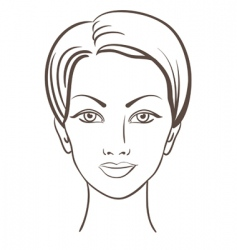 woman face illustration vector image vector image
