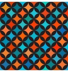 Seamless Colorful Blue Orange Shades Circle vector image