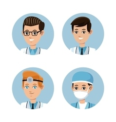 Collection doctor occupation emergency vector