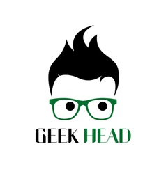Cool geek logo vector