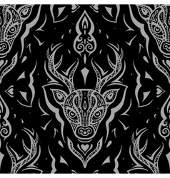 Deer head seamless pattern vector