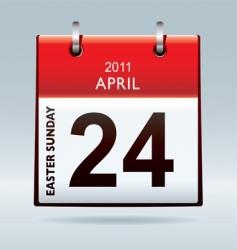 Easter Sunday calendar icon vector image