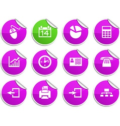 Office stickers vector