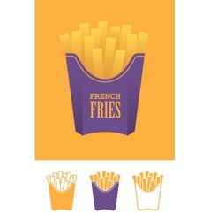 Four french fries icons vector