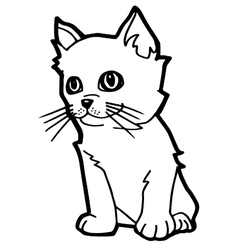 Cat cartoon vector