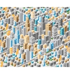 Background of isometric city vector image