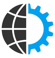 Global industry icon vector