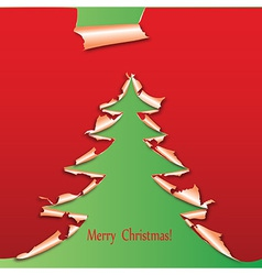 creative christmas tree paper vector image