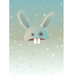 Snow rabbit vector