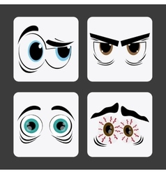 Expressive eyes design vector