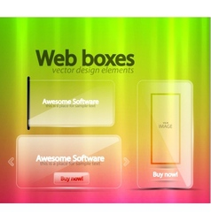 Transparent web banners vector