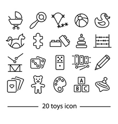 Twenty line toys icon vector