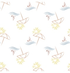 Seamless with beach umbrella vector