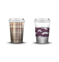 Coffee cup with patterns template vector