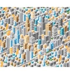 Background of isometric city vector