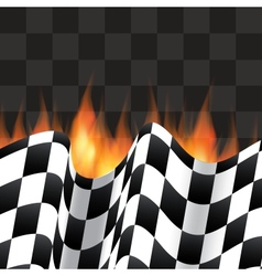 Background with checkered flag vector image