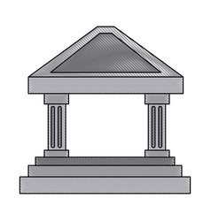 bank building concept finance investment vector image vector image