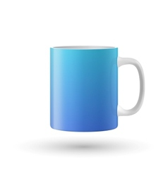 Blue cup isolated on white background vector image vector image