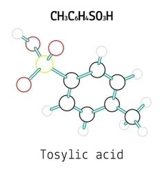 CH3C6H4SO3H Tosylic acid molecule vector image vector image