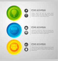 Colorful business pictogram background vector