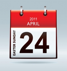 Easter sunday calendar icon vector