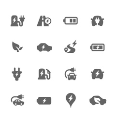 Electrocar Icons vector image vector image