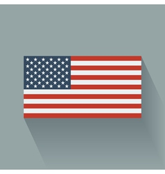 Flat flag of the usa vector