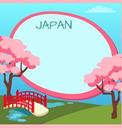 Japan touristic concept with copyspace vector